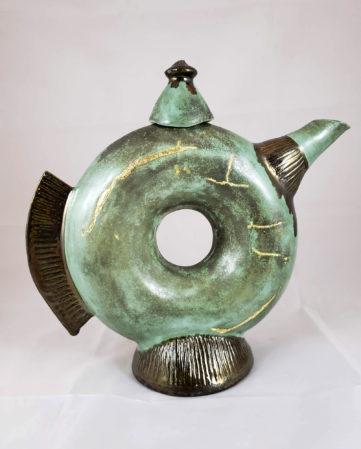 Ceramic Deco Donut Kintsugi Teapot